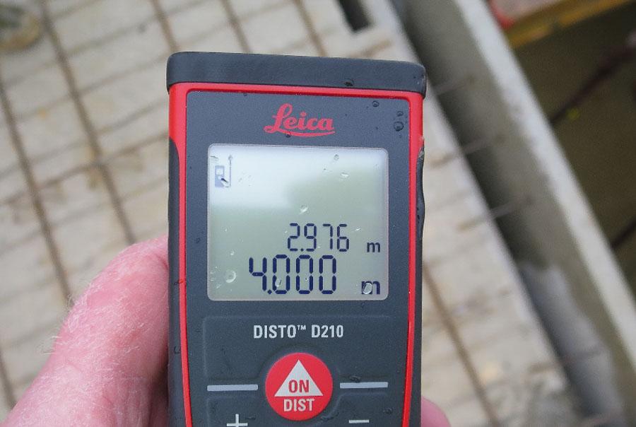 Baubegleitung. Überprüfung der Maße